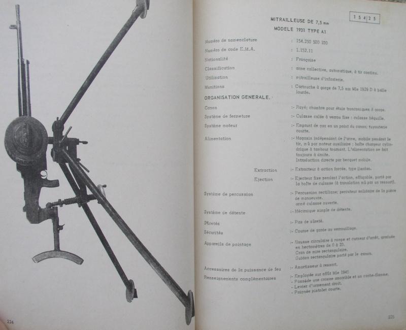 catalogue répertoire des armes légères et affuts en service dans l'armée française MAT 1191 2912