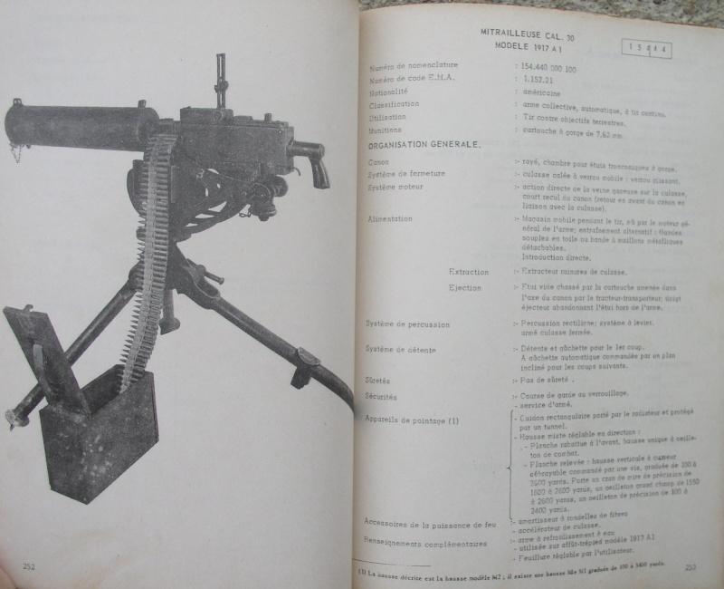 catalogue répertoire des armes légères et affuts en service dans l'armée française MAT 1191 3012
