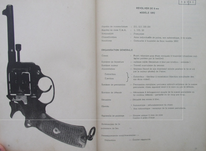 catalogue répertoire des armes légères et affuts en service dans l'armée française MAT 1191 333