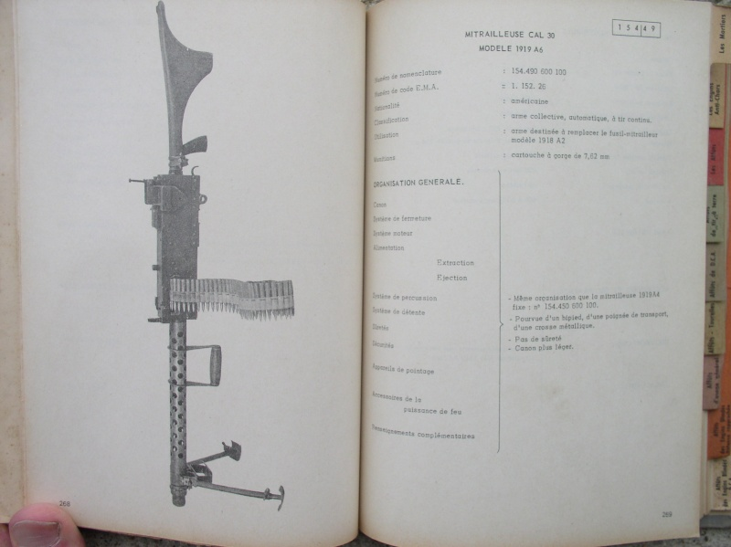 catalogue répertoire des armes légères et affuts en service dans l'armée française MAT 1191 3414