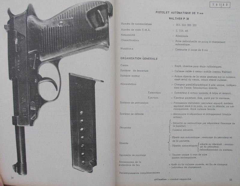 catalogue répertoire des armes légères et affuts en service dans l'armée française MAT 1191 515