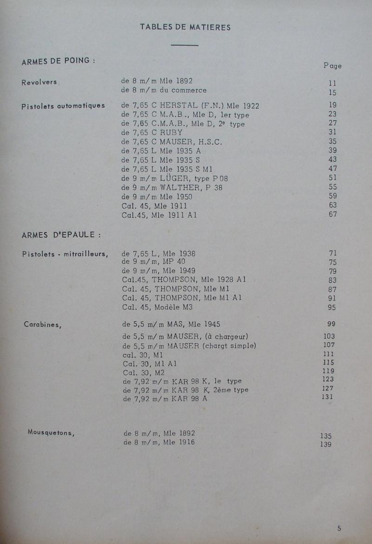 catalogue répertoire des armes légères et affuts en service dans l'armée française MAT 1191 A11