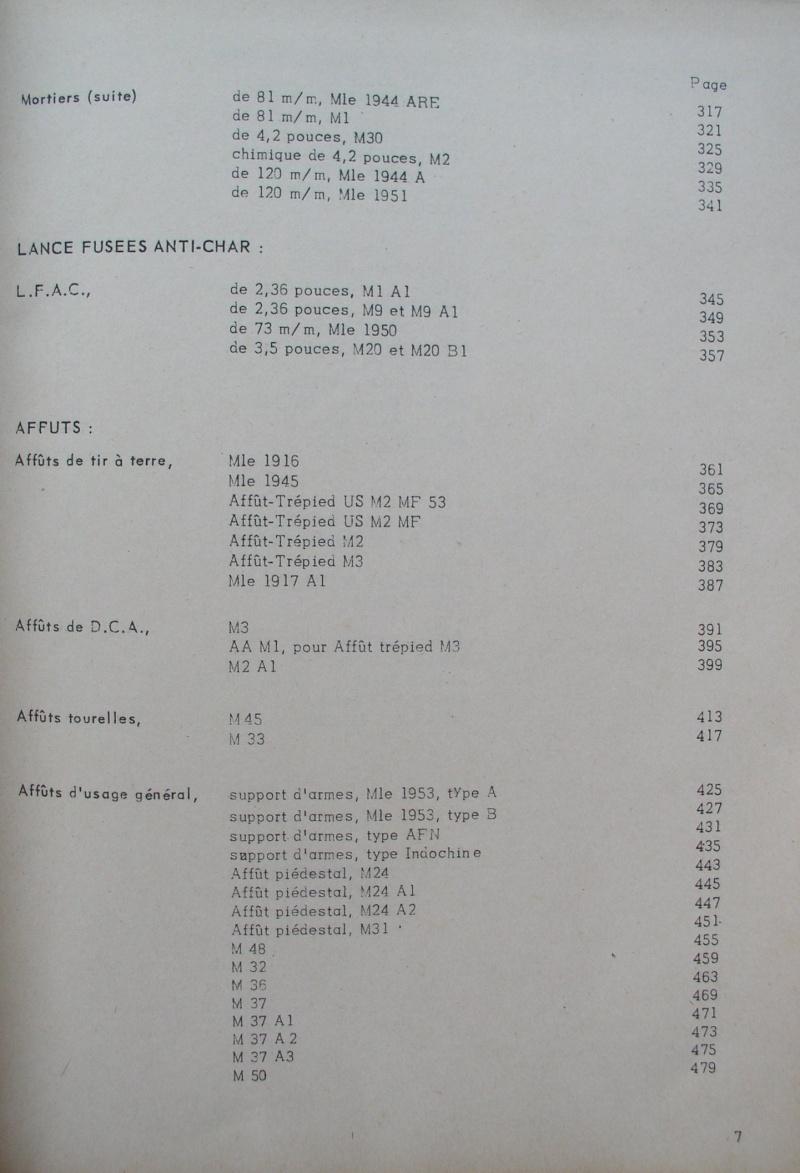 catalogue répertoire des armes légères et affuts en service dans l'armée française MAT 1191 C11
