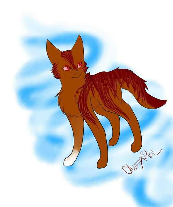 meet my warrior cat, Swiftleap!! Cherry10