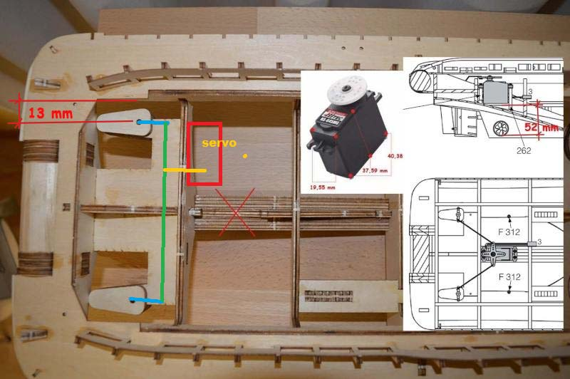 du Fairmount Alpine de Billing Boats, recherche de conseils Servo010