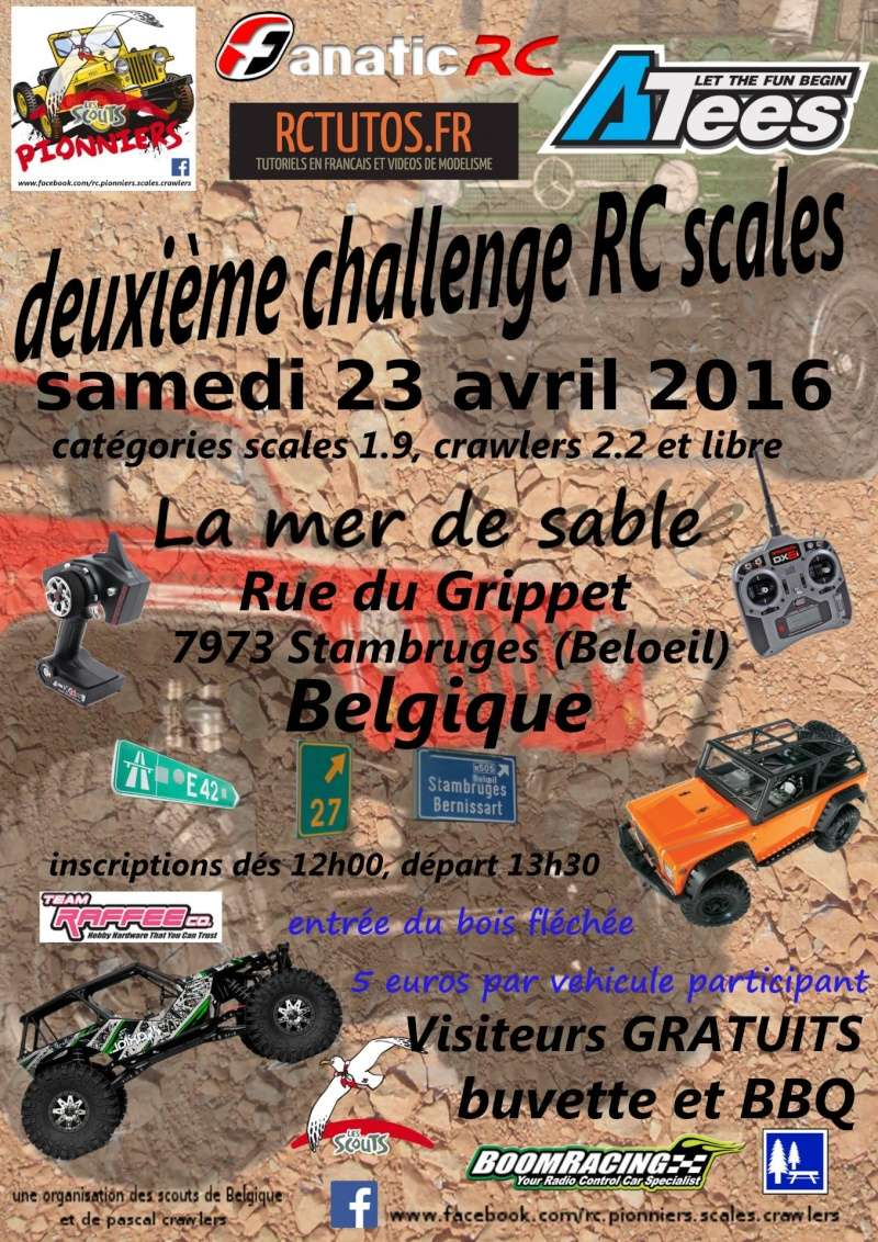 Trial RC Pionniers - 23 avril 2016 - Mons Frontière Belge Affich10