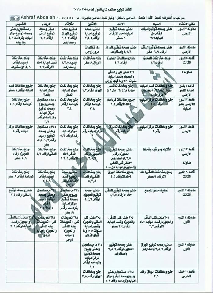 مقار وعناوين محاكم القاهرة والجيزة حسب اخر تعديلات 2015 قابله للنسخ  Oa_210