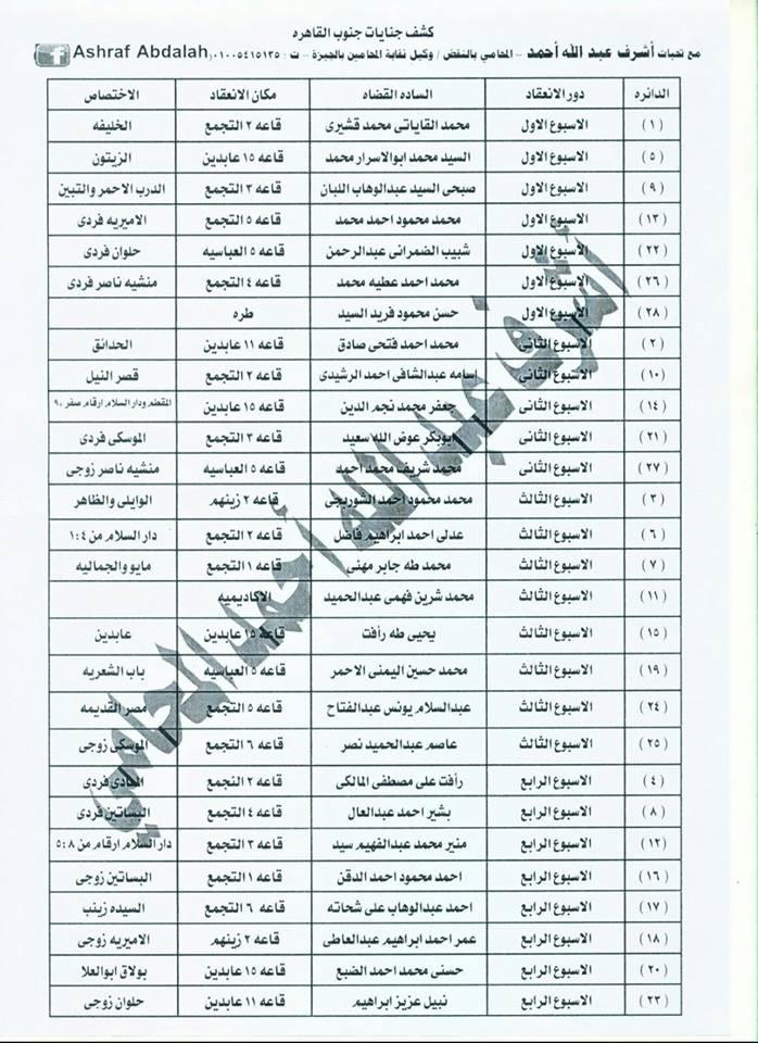 مقار وعناوين محاكم القاهرة والجيزة حسب اخر تعديلات 2015 قابله للنسخ  Oa_511