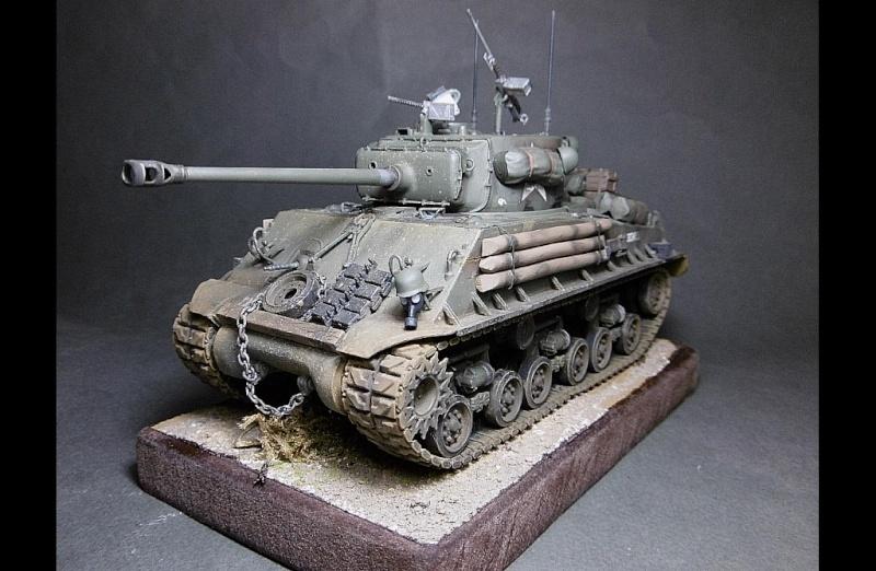 "Sherman M4A3 version "" FURY "" Italeri 1/35 Fin_110"
