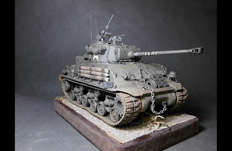 "Sherman M4A3 version "" FURY "" Italeri 1/35 Fin_210"
