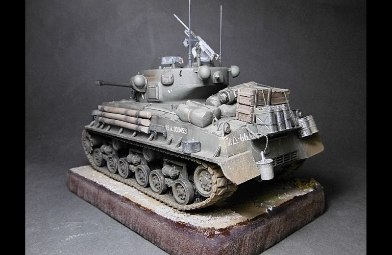 "Sherman M4A3 version "" FURY "" Italeri 1/35 Fin_410"