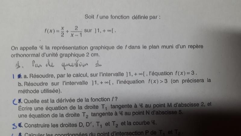 [1S]Bloqué sur un DM (tangentes, dérivées,etc.) 20151212