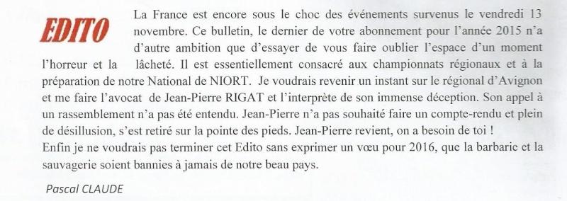 EDITO ( par Mr Pascal CLAUDE) Sans_t11