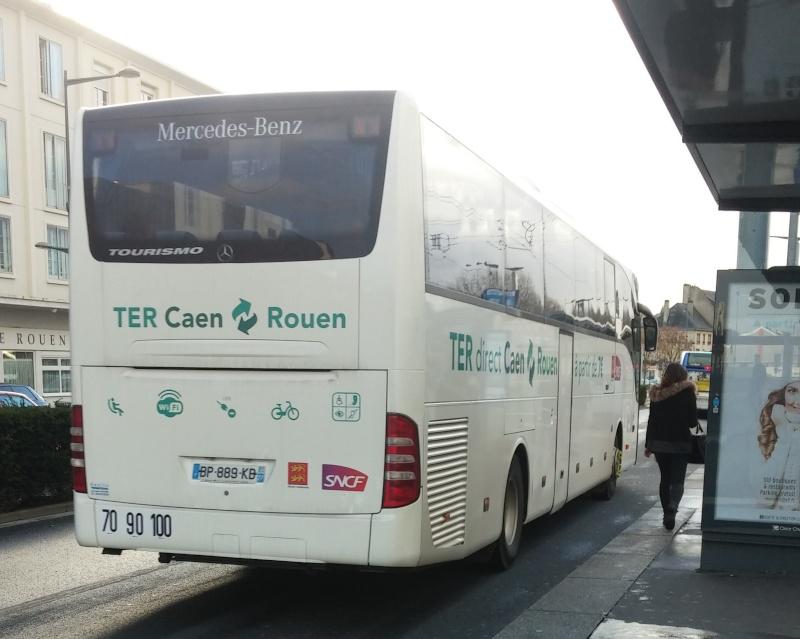 La liaison TER Caen-Rouen en bus 20160114