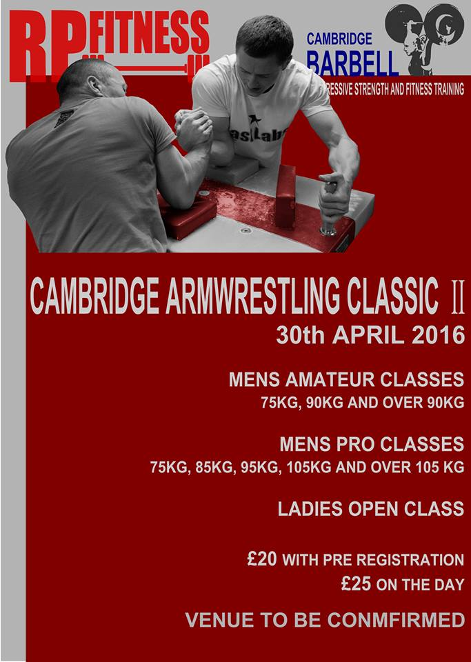 CAMBRIDGE ARMWRESTLING CLASSIC II - 7th MAY 2016 Dan10