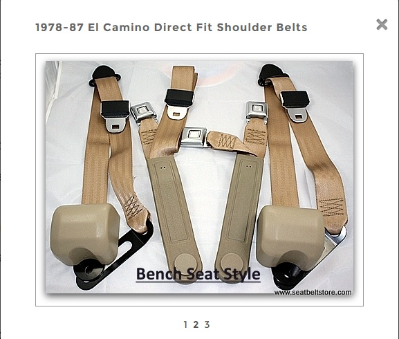 seat & shoulder belts 111