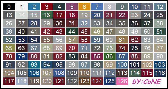 ID das Cores dos Veículos SA:MP Cores10