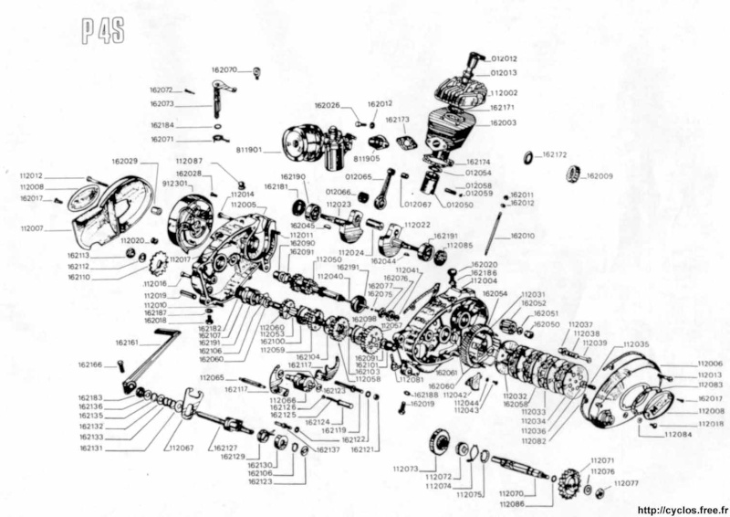 Triporteur Empolini de 1977, moteur Minarelli P4 P4s_bi10