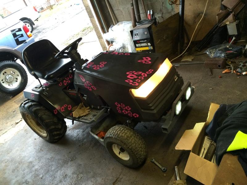 pink cheetah tractor build. Img_0618