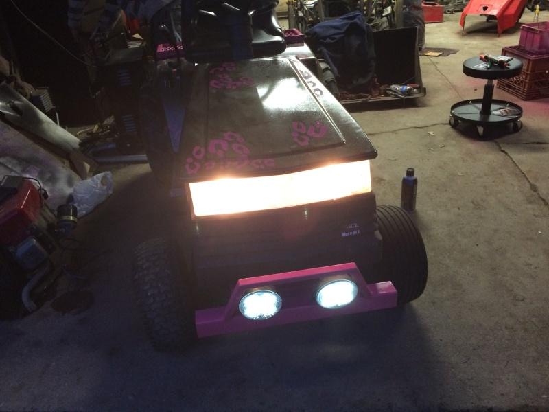 pink cheetah tractor build. Img_0711