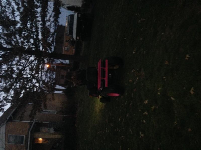 pink cheetah tractor build. Photo_18