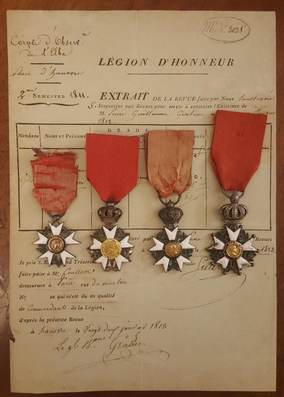 Mes médailles de la Légion d'honneur 1er Empire 20191038