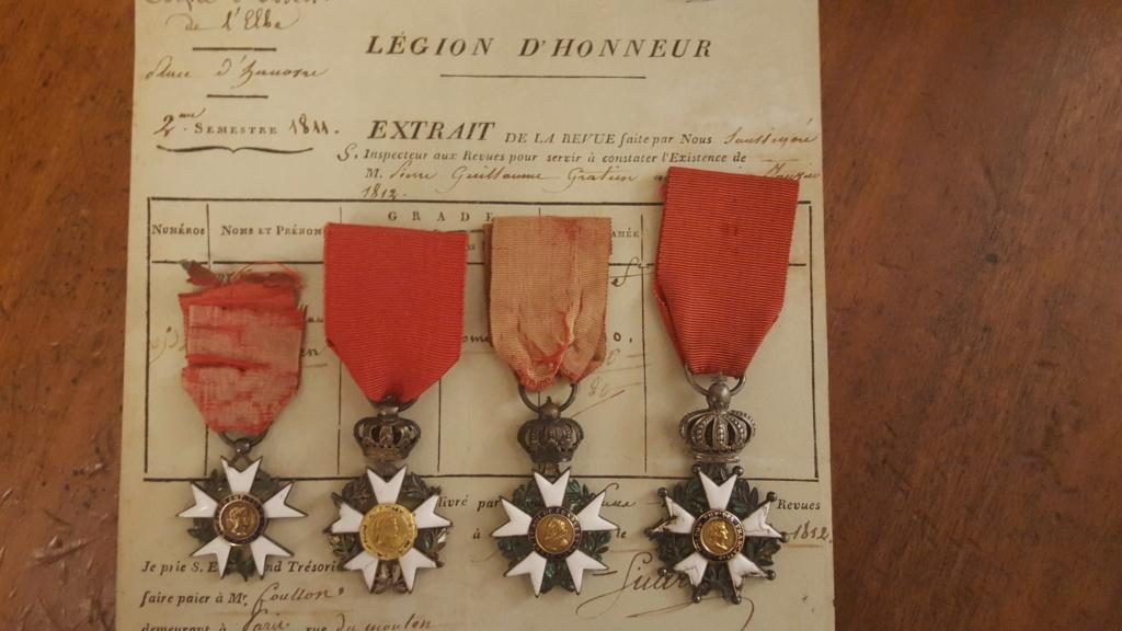 Mes médailles de la Légion d'honneur 1er Empire 20191039