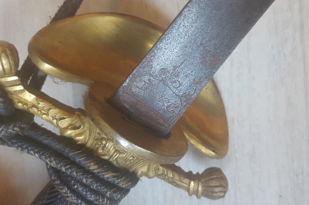 épée fantaisie de commissaire des guerres Empire-Restauration 20200334