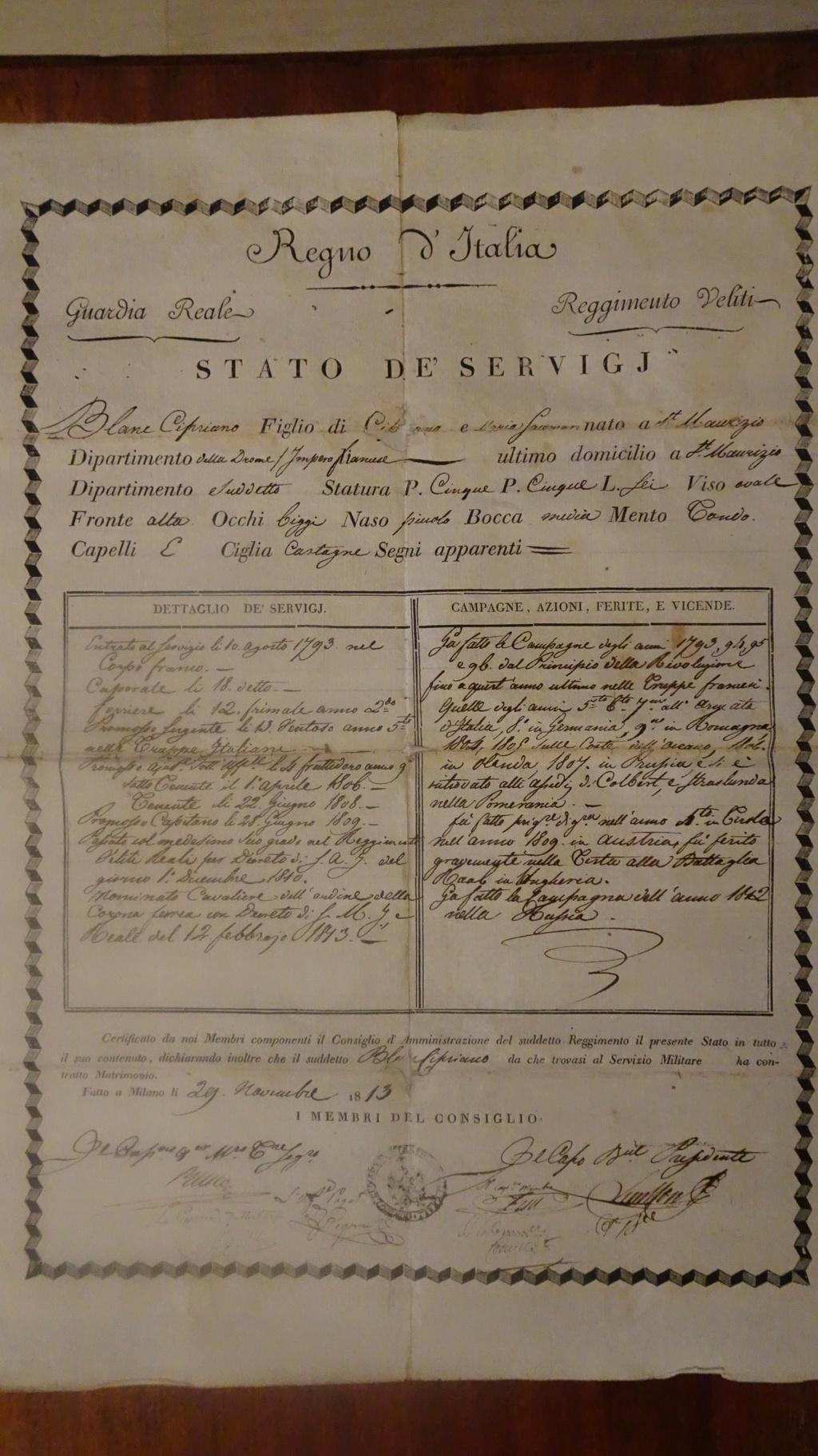 Cipriano Blanc, Capitaine des vélites royaux Dsc01512
