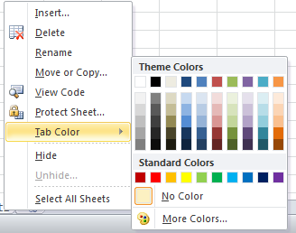 Change The Excel Sheet Tab Color !! 411