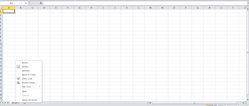 Insert An Sheet In Microsoft Excel Screen11