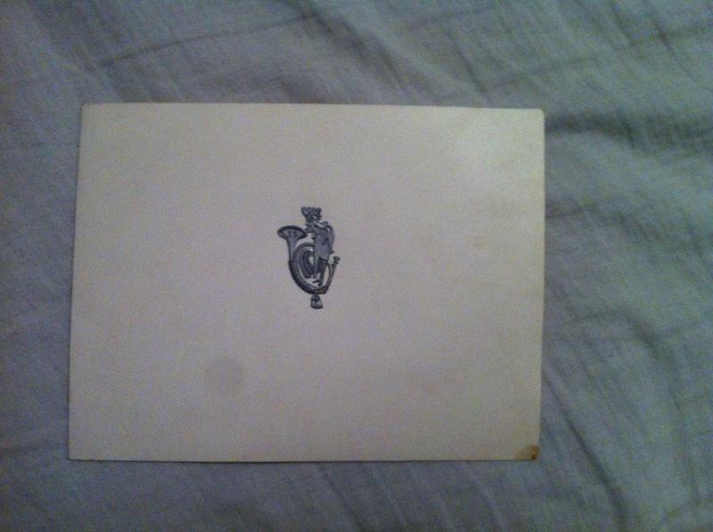 Rare lettre de vœux du 25eme BCA  Image23