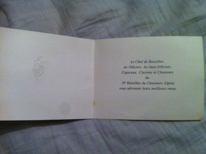 Rare lettre de vœux du 25eme BCA  Image24