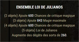 Les sets craftables Julian10