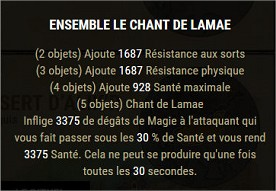 Les sets craftables Lamae10