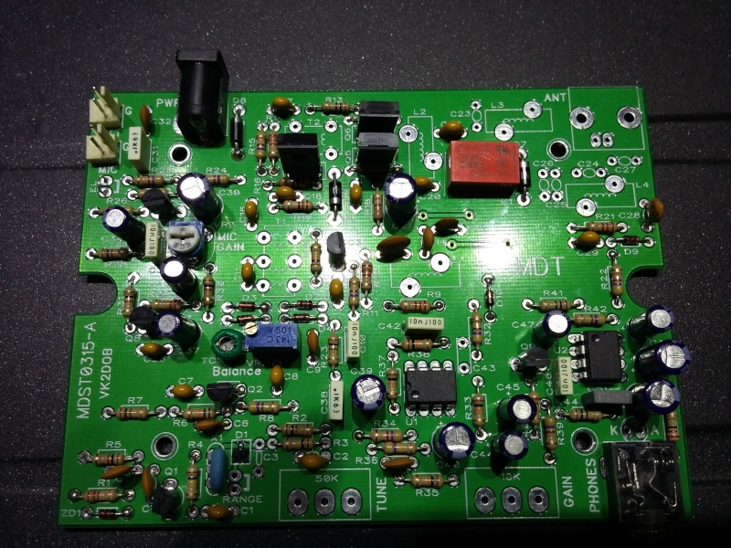 KIT émetteur récepteur QRP phonie 40m ( ozQRP ) 20151213