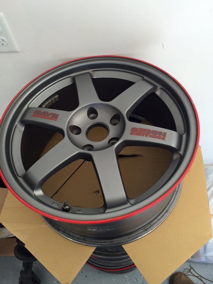"FS/WTT Volk Rays TE37 ""Seibon Carbon"" Edition 18x8.5 +48 w/o tires. 12193511"
