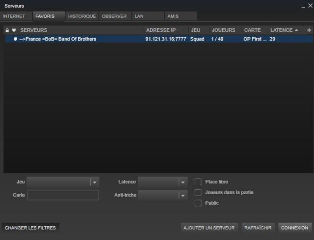 Rejoindre directement un serveur depuis Steam Favori10