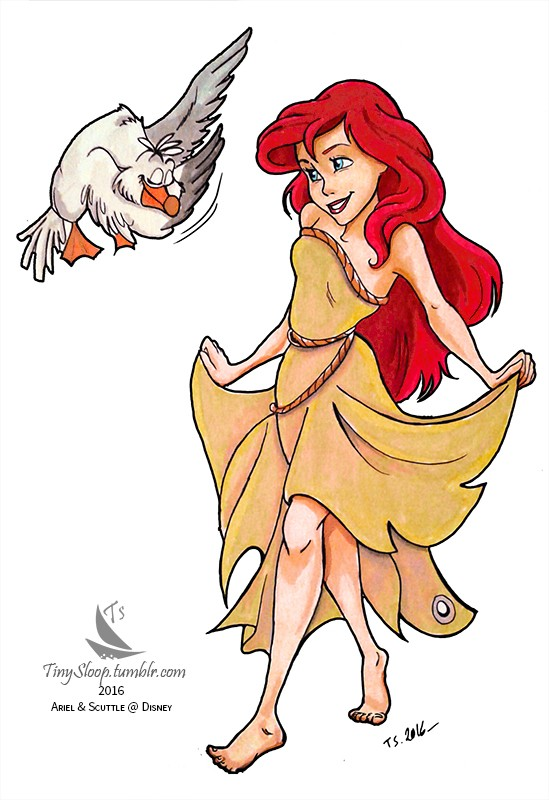 [Dessins] Fanarts de Pumpkin Princess : Mozenrath et Aladdin Ariel_11