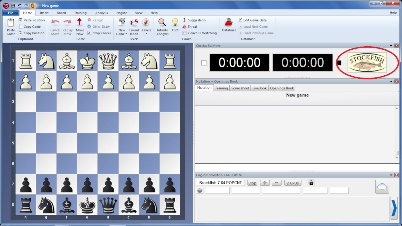 How To Display Chess Logo on Fritz Interface Untitl11
