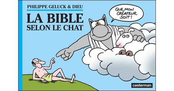 La Bible selon Le Chat de Philippe Geluck et Dieu  Bible-10