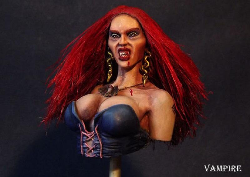Buste de Pin-UP Vampire Vampir13