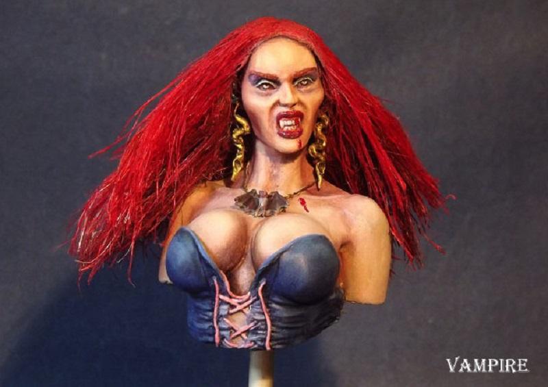 Buste de Pin-UP Vampire Vampir14