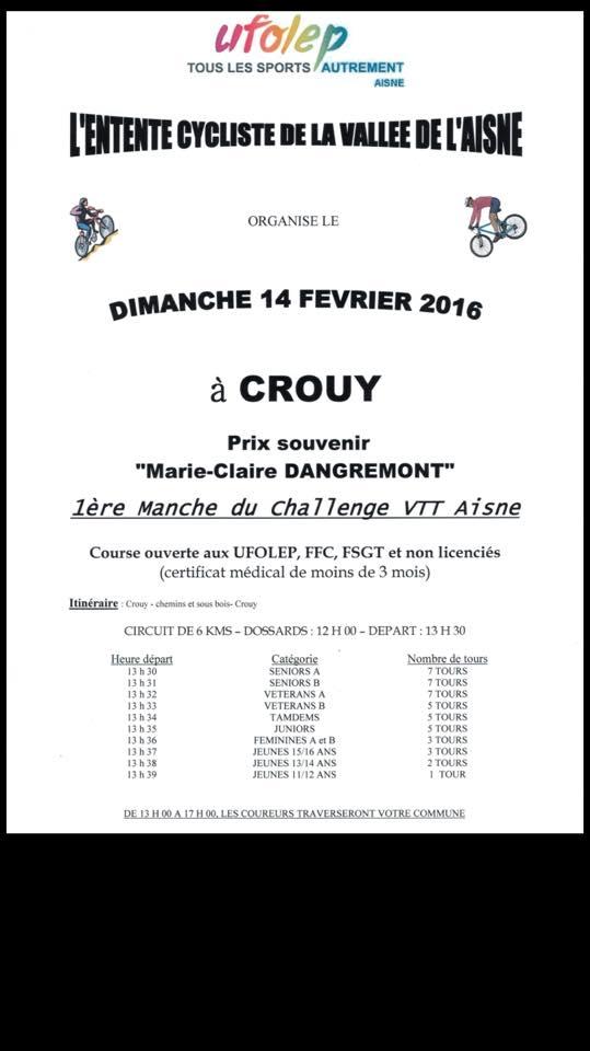 14/02/2016 CROUY ECVA 1ère Manche du Challenge VTT UFOLEP Aisne  12654310
