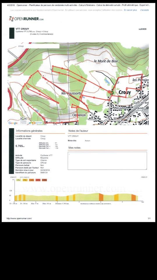 14/02/2016 CROUY ECVA 1ère Manche du Challenge VTT UFOLEP Aisne  12662010