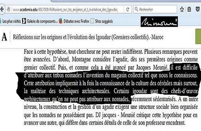 Amazigh - Incroyable , on ose diaboliser l'Amazigh et le dénuder de son patrimoine Mimoun14