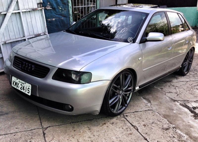 Audi a3 Prata 180cv manual , grade preta , mascara negra. Rafael Mendes 20160156