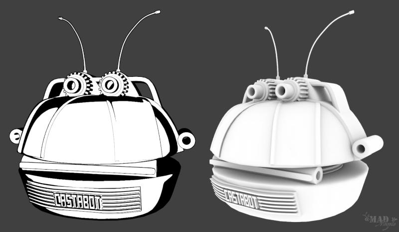 [Fan-Art 3D] Le Castabot, ça c'est un bon petit ! + Machine temporelle Castab10