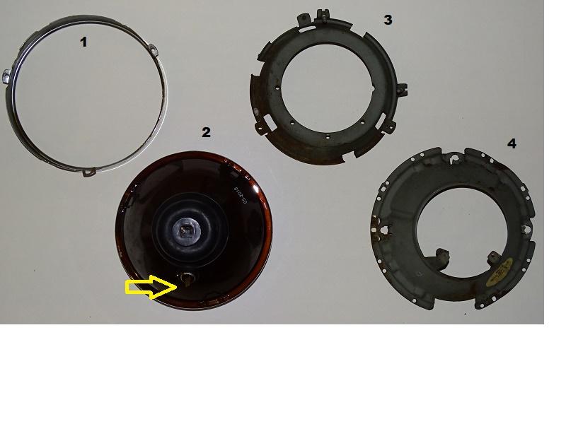 Cherce Paire de Globle Phare 12V US seal beam pour KG Phd10