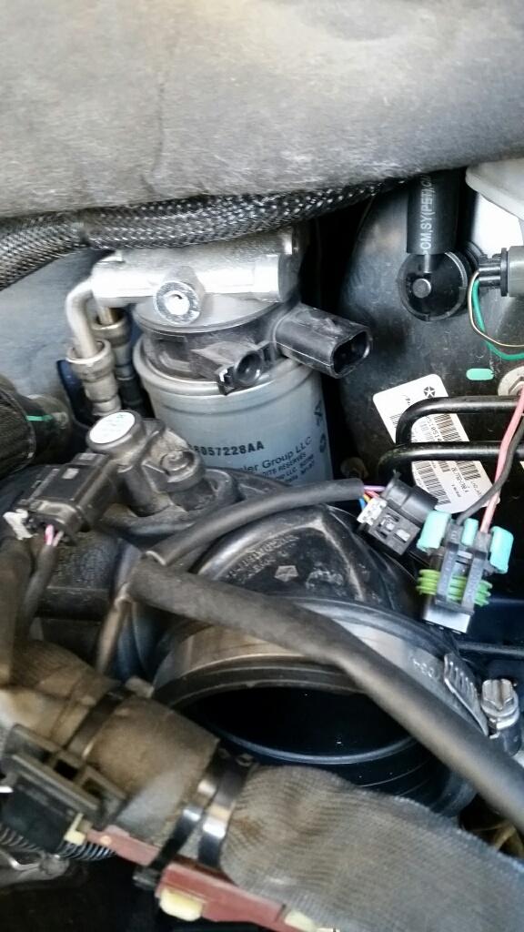 Jeep Copass 2.2 CRD 163 cv  Procedura sostituzione filtro gasolio 20160120